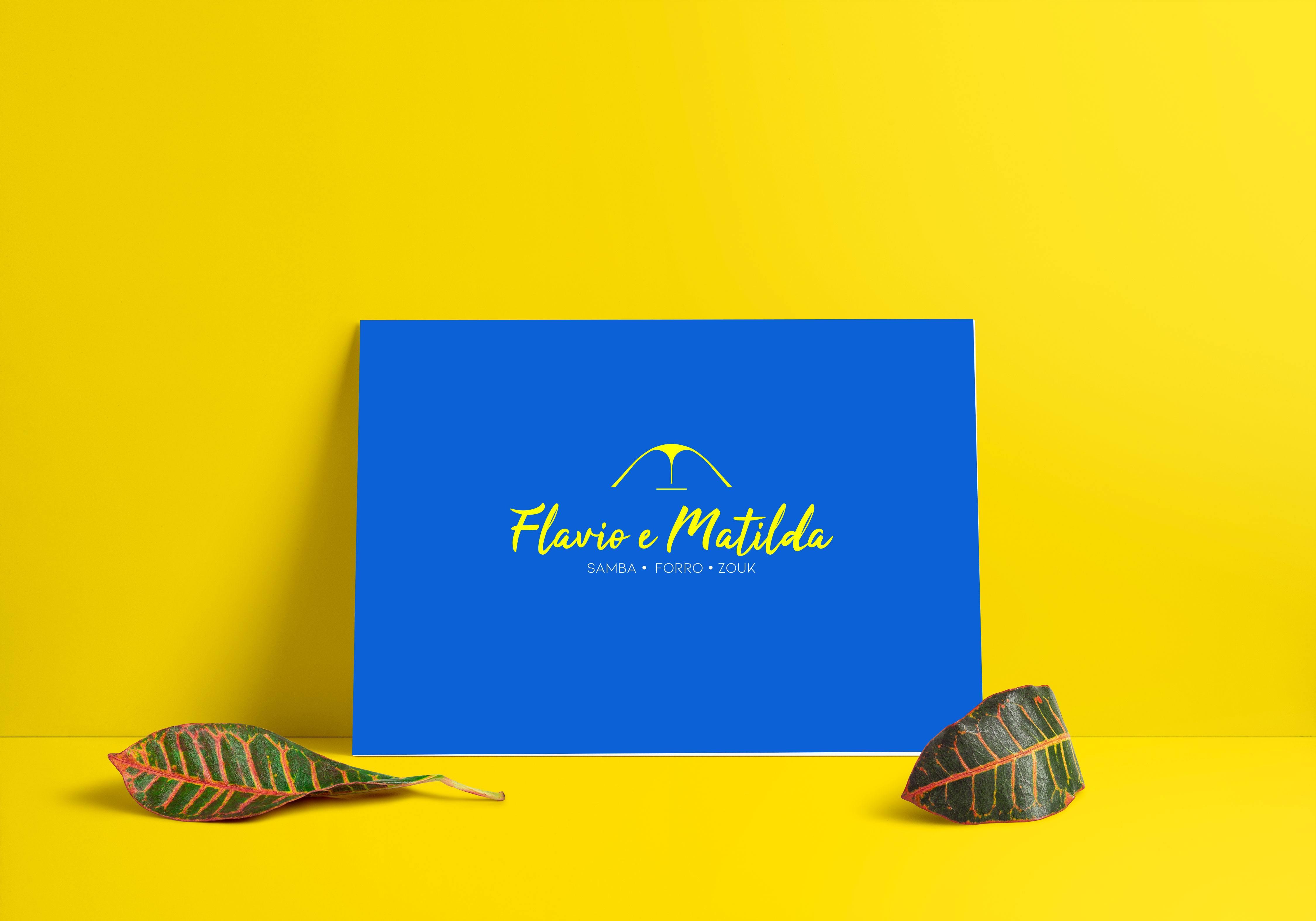 création logo école de danse flavio e matilda